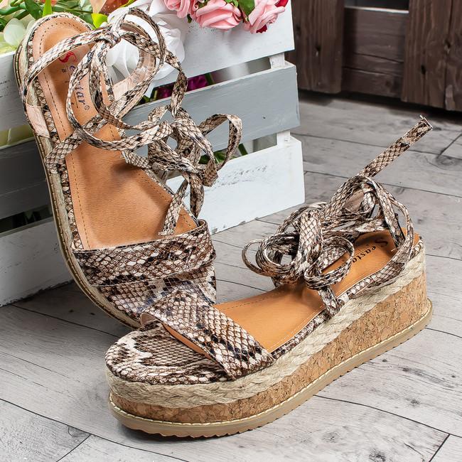 6074c8fbe1fe1 Beststyle.sk- šnurovacie sandále