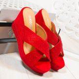 Červené šlapky