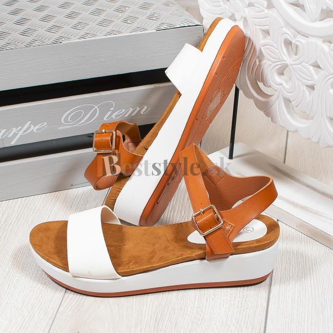 c79039b7e4 Biele sandále zväčšiť obrázok