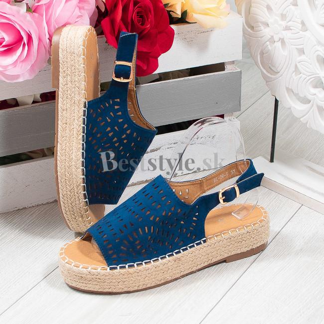 a0d6806461 Modré sandálky zväčšiť obrázok. Akcia