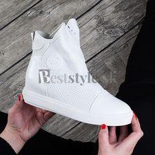 Biele jarné čižmy