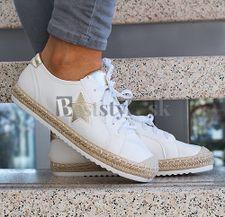 Biele tenisky espadrilky