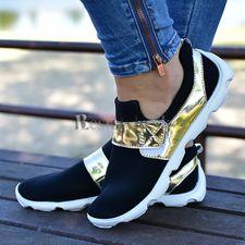 Čierno-zlaté tenisky
