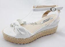 Dámska biele sandále