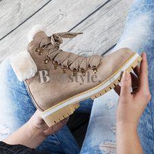 Hnedá členková obuv