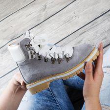 Sivá členková obuv