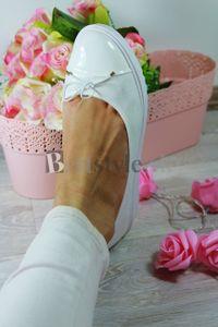 Dámske biele balerínky