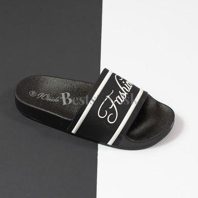 Čierne šlapky ,,fashion,,