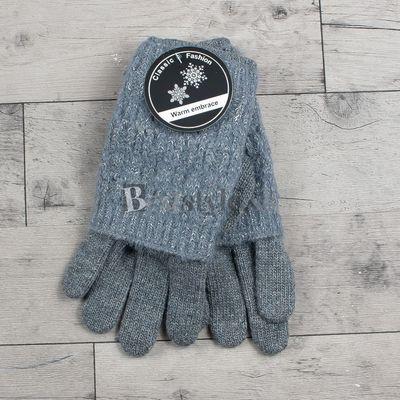 Sivé rukavice